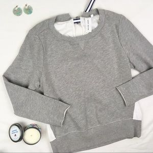 Anthropologie Cotton Back Sporty Sweatshirt